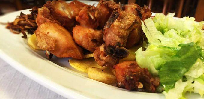 Pollo al ajillo en Sidrería El Gaucho de La Felquera